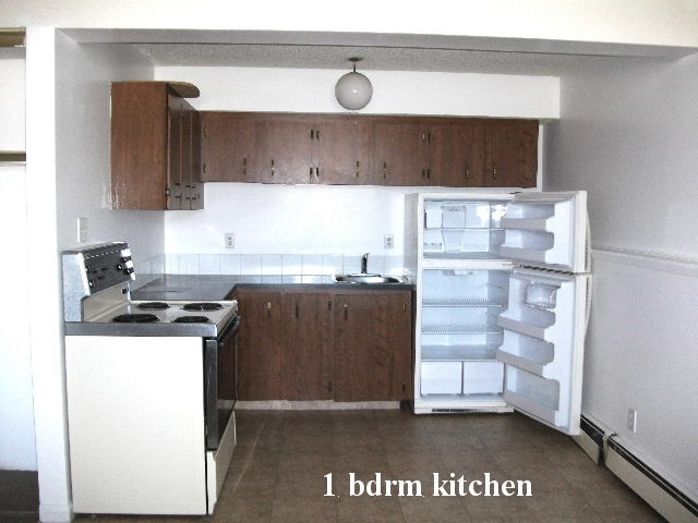 Kitchen in a typical 1 bedroom